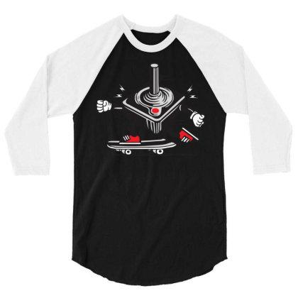 Joystick Skater Skateboard 3/4 Sleeve Shirt Designed By Ndaart