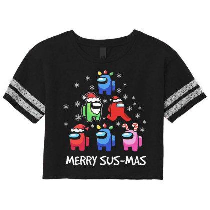 Among Us Santa Merry Sus Mas Christmas Scorecard Crop Tee Designed By Kakashop