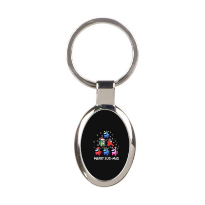Among Us Santa Merry Sus Mas Christmas Oval Keychain Designed By Kakashop