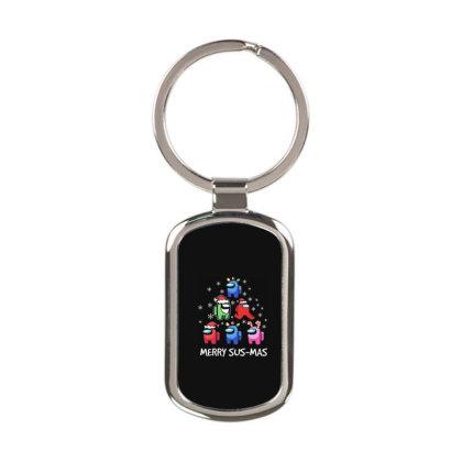 Among Us Santa Merry Sus Mas Christmas Rectangle Keychain Designed By Kakashop