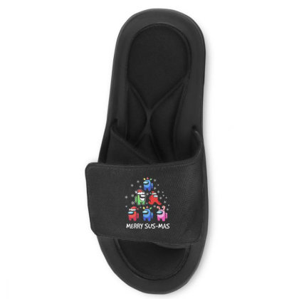 Among Us Santa Merry Sus Mas Christmas Slide Sandal Designed By Kakashop