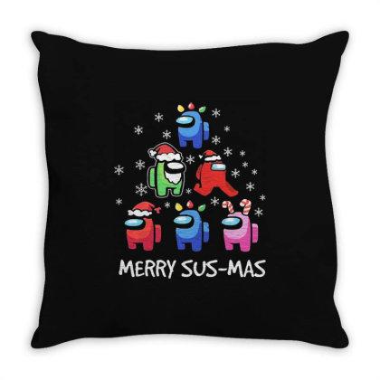 Among Us Santa Merry Sus Mas Christmas Throw Pillow Designed By Kakashop