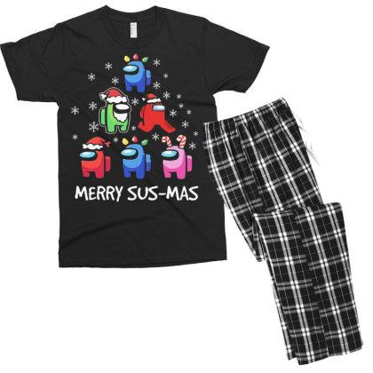 Among Us Santa Merry Sus Mas Christmas Men's T-shirt Pajama Set Designed By Kakashop