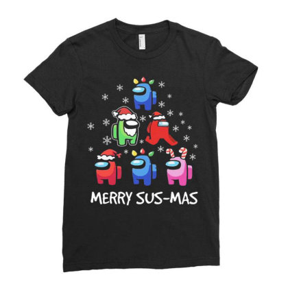 Among Us Santa Merry Sus Mas Christmas Ladies Fitted T-shirt Designed By Kakashop