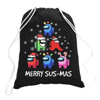 Among Us Santa Merry Sus Mas Christmas Drawstring Bags Designed By Kakashop