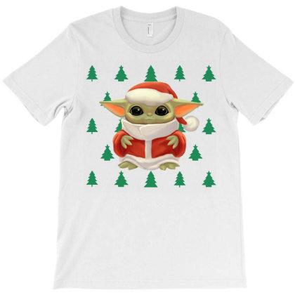 Baby Yoda Christmas T-shirt Designed By Li Ova