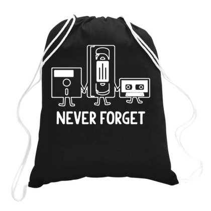 Never Forget Sarcastic Cool Adult Drawstring Bags Designed By Ismi