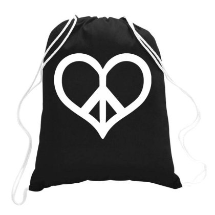 Peace & Love Drawstring Bags Designed By Ismi