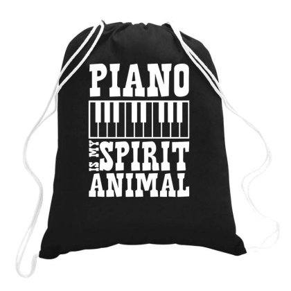 Piano Is My Spirit Animal Caps Drawstring Bags Designed By Ismi