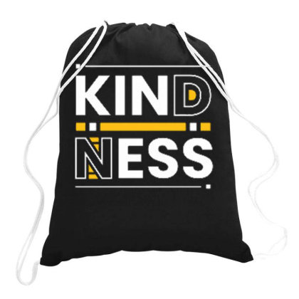 Kindness Drawstring Bags Designed By Ndaart