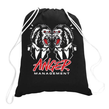 King Kong Gorilla The Anger Management Drawstring Bags Designed By Ndaart