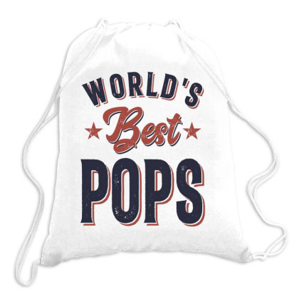 World's Best Pops | Father Grandpa Gift Drawstring Bags Designed By Cidolopez