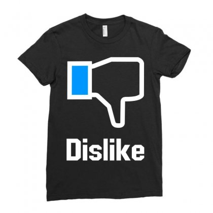 Dislike Ladies Fitted T-shirt Designed By Mdk Art