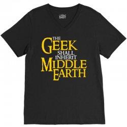 geek shall inherit middle earth V-Neck Tee | Artistshot