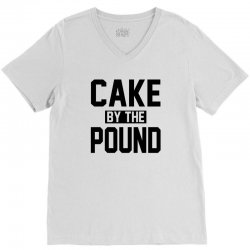 CAKE BY THE POUND V-Neck Tee | Artistshot