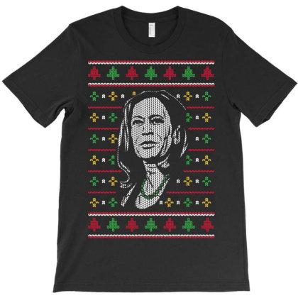 Kamala Harris Faux Knitted Christmas T-shirt Designed By Koopshawneen