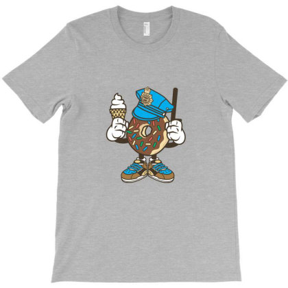 Donut Cop T-shirt Designed By Marshal