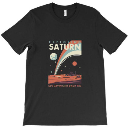 Exploring Saturn T-shirt Designed By Marshal
