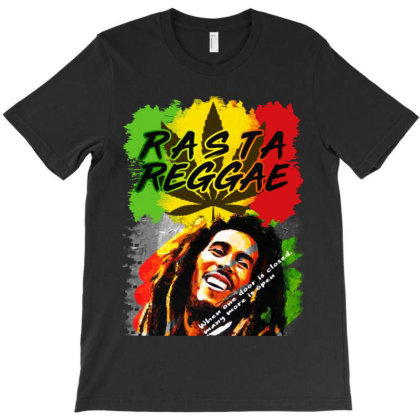Rasta Reggae Bob Marley T-shirt Designed By Blqs Apparel