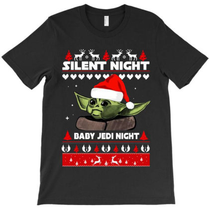 Baby Yoda Jedi Night Christmas T-shirt Designed By Barbara Apparel