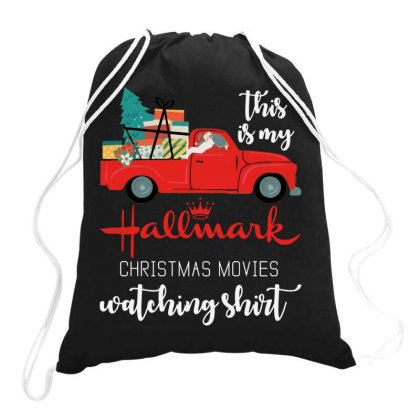 This Is My Hallmark Christmas Movies Watching Drawstring Bags Designed By Barbara Apparel