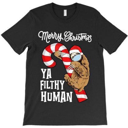 Sloth Xmas Funny T-shirt Designed By Barbara Apparel