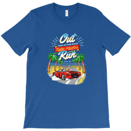 Outrun T-shirt Designed By Hilmorera