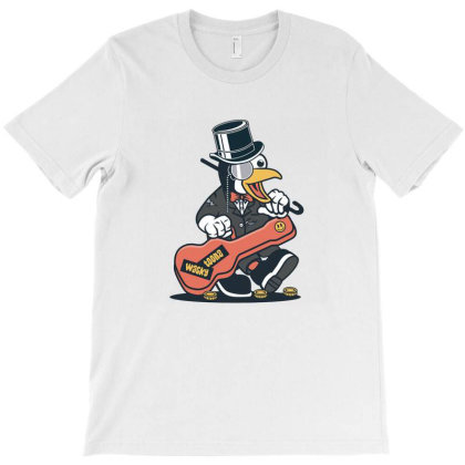 Penguin Busker T-shirt Designed By Hilmorera