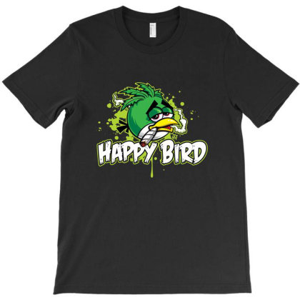Happy Bird T-shirt Designed By Mathers