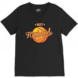 best husband basketball since 1975 V-Neck Tee   Artistshot