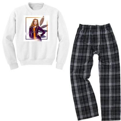 Orange Youth Sweatshirt Pajama Set Designed By Studio Solasta