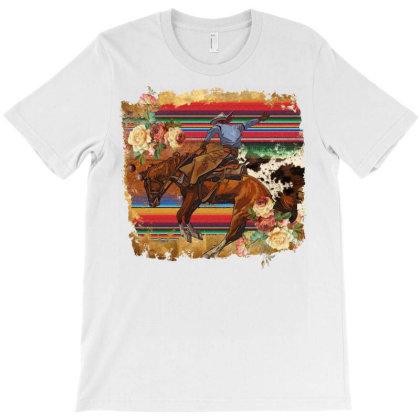 Bucking Bronc T-shirt Designed By Badaudesign