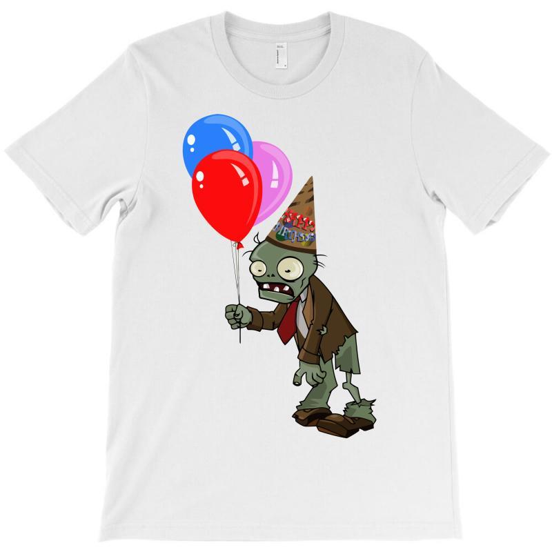 Happy Birthday Plants Vs Zombies Zombie T-shirt | Artistshot