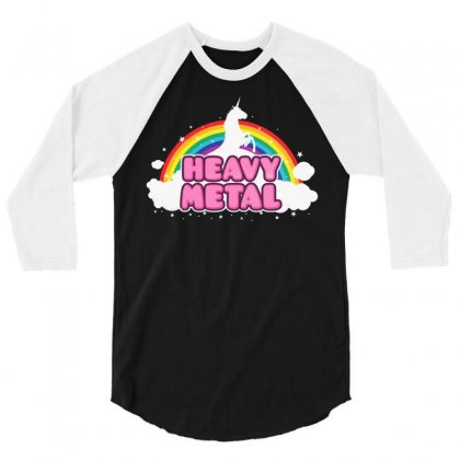 Heavy Metal! 3/4 Sleeve Shirt Designed By Mdk Art