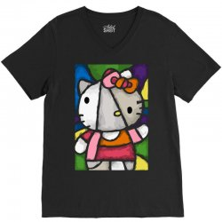 hello picasso kitty V-Neck Tee | Artistshot