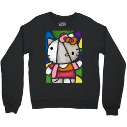 hello picasso kitty Crewneck Sweatshirt | Artistshot