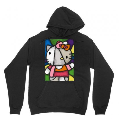 Hello Picasso Kitty Unisex Hoodie Designed By Mdk Art