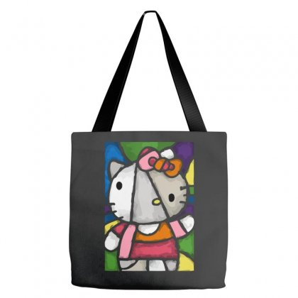 Hello Picasso Kitty Tote Bags Designed By Mdk Art