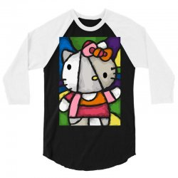hello picasso kitty 3/4 Sleeve Shirt | Artistshot