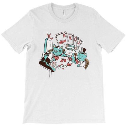 Poker Cats T-shirt Designed By Rebecca
