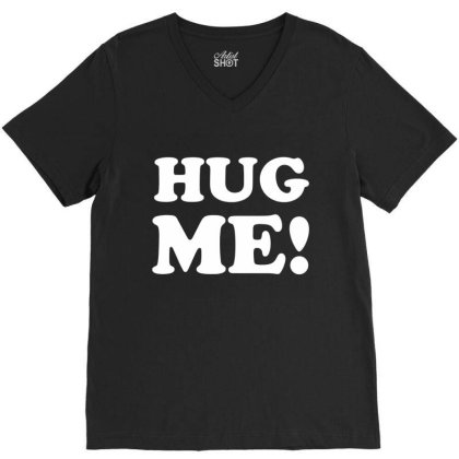 Hug Me V-neck Tee Designed By Lyly