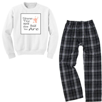 Quote Youth Sweatshirt Pajama Set Designed By Prachijoshi