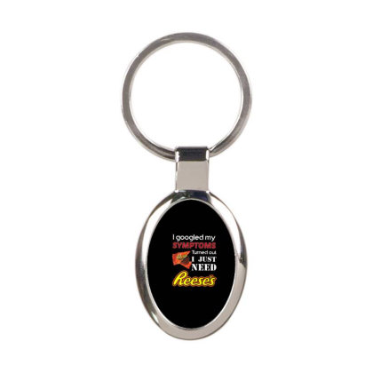 I Just Need Reeses T Shirt For Christmas Oval Keychain Designed By Platinumshop