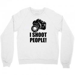 i shoot people t shirt funny photographer tee camera photography digit Crewneck Sweatshirt | Artistshot