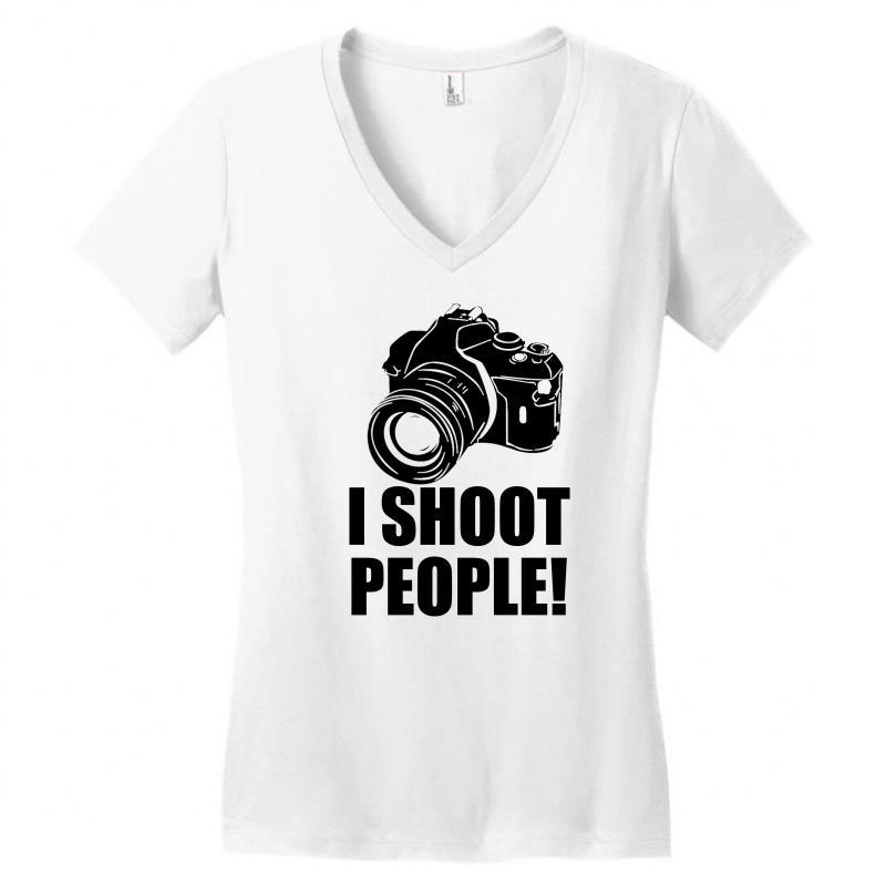 I Shoot People T Shirt Funny Photographer Tee Camera Photography Digit Women's V-neck T-shirt | Artistshot