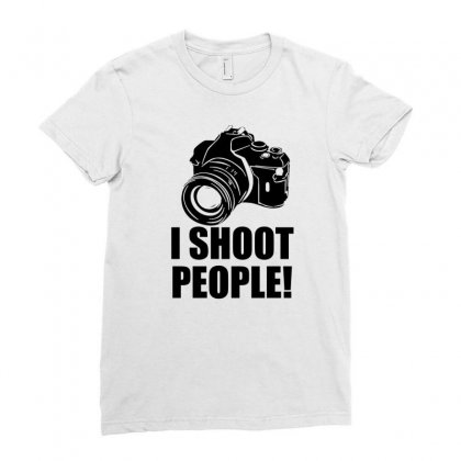 I Shoot People T Shirt Funny Photographer Tee Camera Photography Digit Ladies Fitted T-shirt Designed By Mdk Art