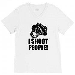 i shoot people t shirt funny photographer tee camera photography digit V-Neck Tee | Artistshot