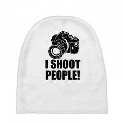 i shoot people t shirt funny photographer tee camera photography digit Baby Beanies | Artistshot