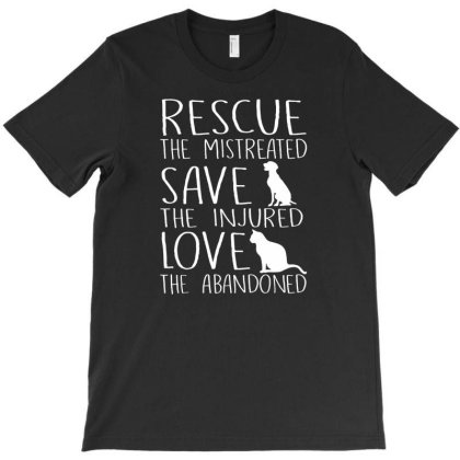Rescue Save Love T-shirt Designed By Funtee