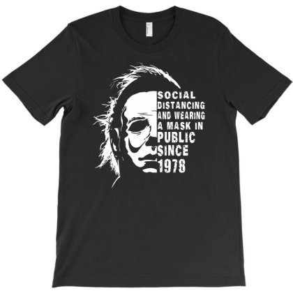 Social Distancing Michael Myers T-shirt Designed By Enjang